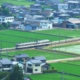 田園を走るミルク電車